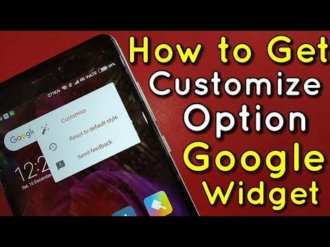 How to Get Google Search Bar Widget Customize Option | Hindi - हिंदी