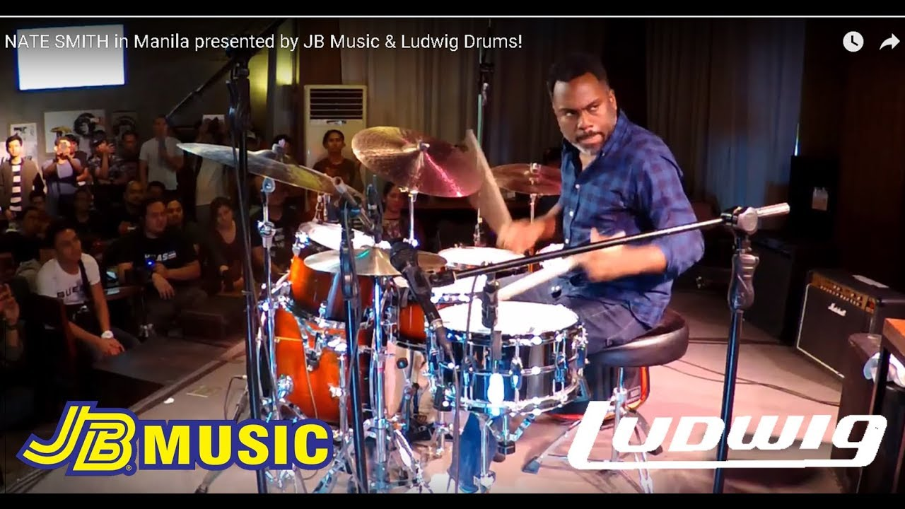 nate smith in manila presented by jb music ludwig drums