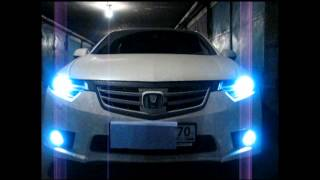 Honda Accord Type S - Angel Eyes(Светодиодный тюнинг в томске., 2012-11-04T09:44:02.000Z)
