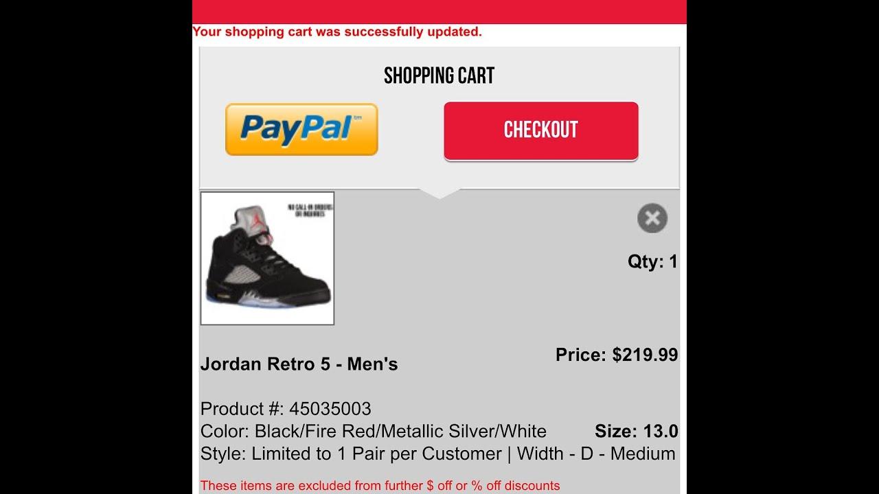 the best attitude 1da8c fbecc Jordan Black Metallic 5s Footlocker Online Release Day 07-23-16