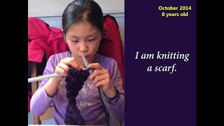kid knitting - what you do makes a difference, you have to decide what different you want to make.