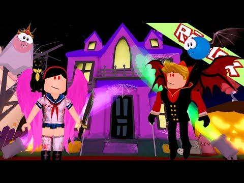 Roblox ยันเดเระจังตะลุยบ้านผีสิงเปิดใหม่สุดฮาใน  MeepCity haunted house