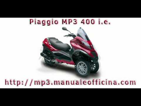 piaggio mp3 400 i e manuale officina in italiano youtube. Black Bedroom Furniture Sets. Home Design Ideas