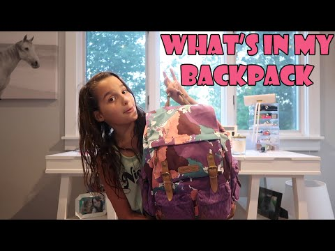 Whats in My Backpack  Acroanna  YouTube