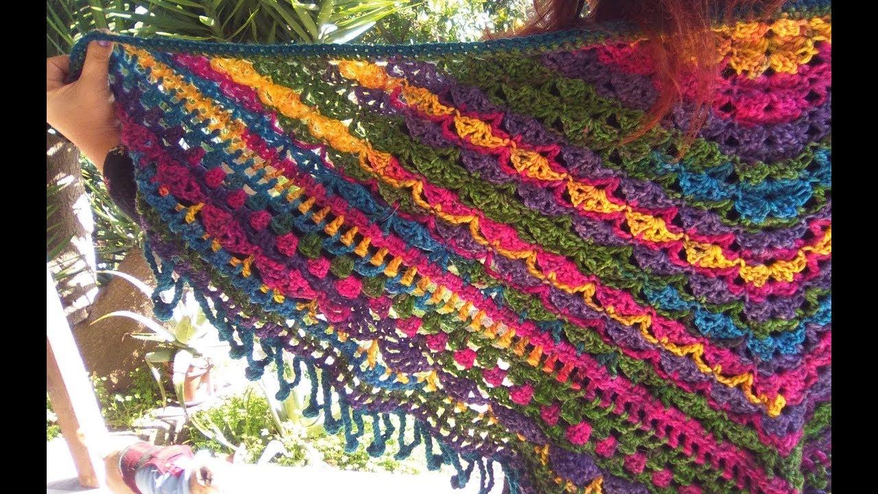 Crochet Baktus Shawl Gypsy Dream Tutorial Easy Youtube