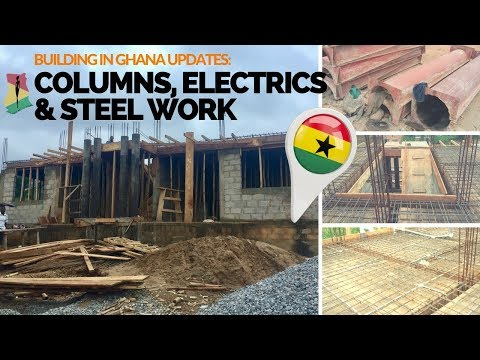 *17* How To Set Up Electric Pipes & Steel For Ghana House