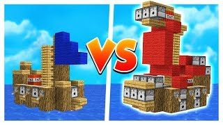 OP FLOATING MINECRAFT SHIP! (1v1v1v1 Ship Wars)