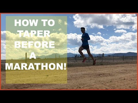 HOW TO TAPER BEFORE A MARATHON (OR HALF MARATHON /ULTRA) Sage Canaday Running Training