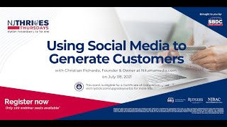 NJTT #010: Using Social Media to Generate Customers