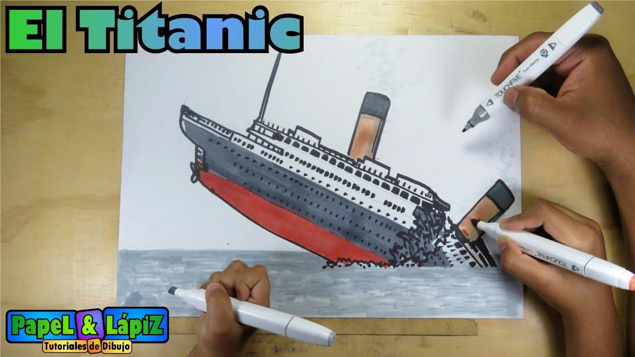 Cómo Dibujar El Náufrago Del Titanic Youtube