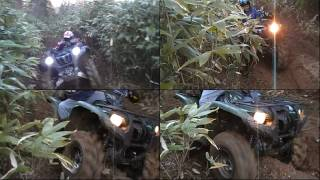 Repeat youtube video 4輪バギー YAMAHA GRIZZLY 700 MUDDING JAPANE 5 1~4の総集編