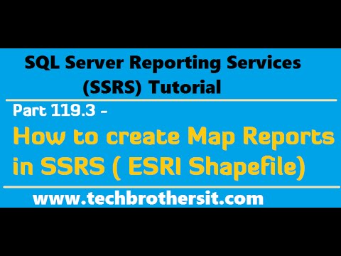 SSRS Tutorial Part 119.3 - How to create Map Reports in SSRS (ESRI Shapefile)