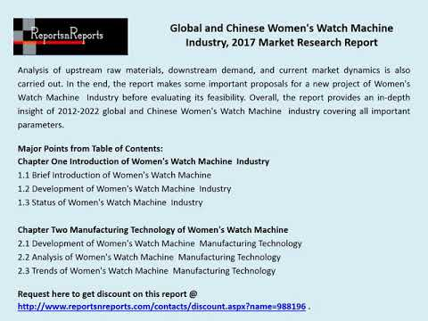 Women's Watch Industry 2022 Global Forecasts with a Focus on Chinese Market