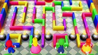 Mario Party 10 – Minigames – Mario vs Peach vs Luigi vs Daisy