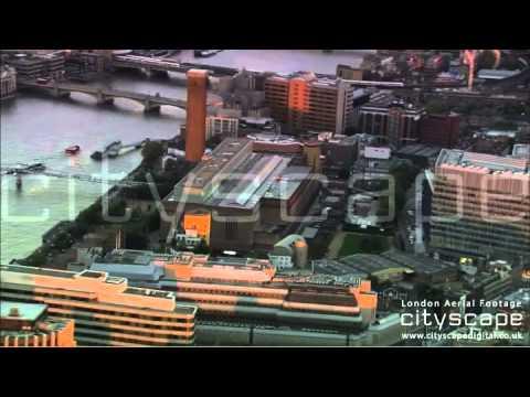 London Aerial Footage - Tate Modern (HD)