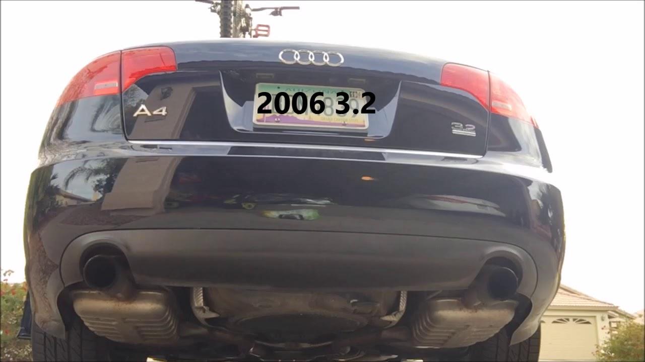 2006 audi a4 3 2 b7 exhaust youtube