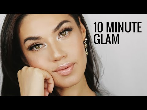 How to Look Glam in 10 Minutes! | My Go To Simple Glam Makeup | Eman