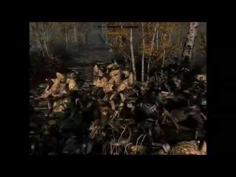 Skyrim Battles - 20 Argonians vs 20 Redoran Guards!!! [Master Settings].!!!