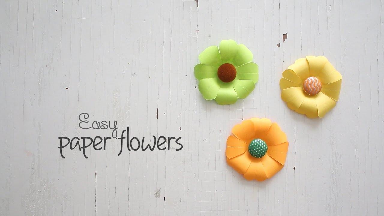 Diy easy paper flowers youtube diy easy paper flowers mightylinksfo