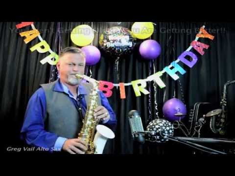 Happy Birthday on Alto Sax - Musical Greeting Cards - Short