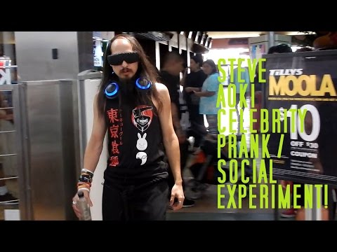 STEVE AOKI CELEBRITY PRANK / SOCIAL EXPERIMENT! PRANKED SPENCERS GIFTS! ARIZONA MILLS MALL