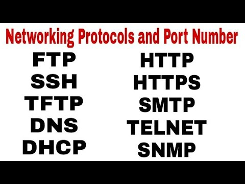 Networking Protocols & Port Number in Hindi || Application Layer Protocols  ||