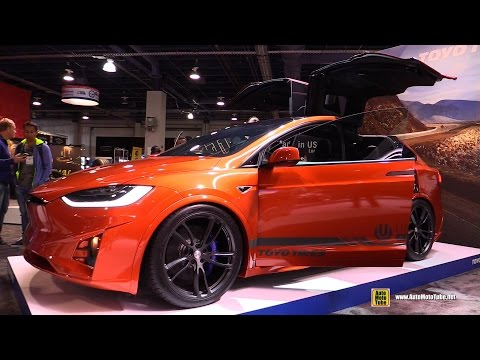 2017 Tesla Model X P90D Ludicrous by Unplugged Performance at Toyo Stand SEMA 2016 - Walkaround