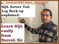 SQL Server Tail Log Back-up explained by Expert DBA Suresh | RedBush