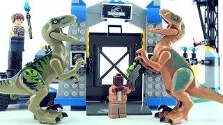 Velociraptor Escape Jurassic World - Lego compatible Dinosaur set - Dinosaurs speed build