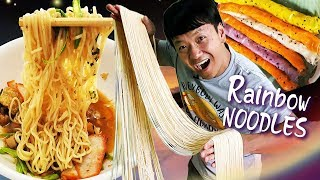 RAINBOW NOODLES, Seafood BREAKFAST & Most Beautiful NIGHT MARKET in Sukhothai Thailand