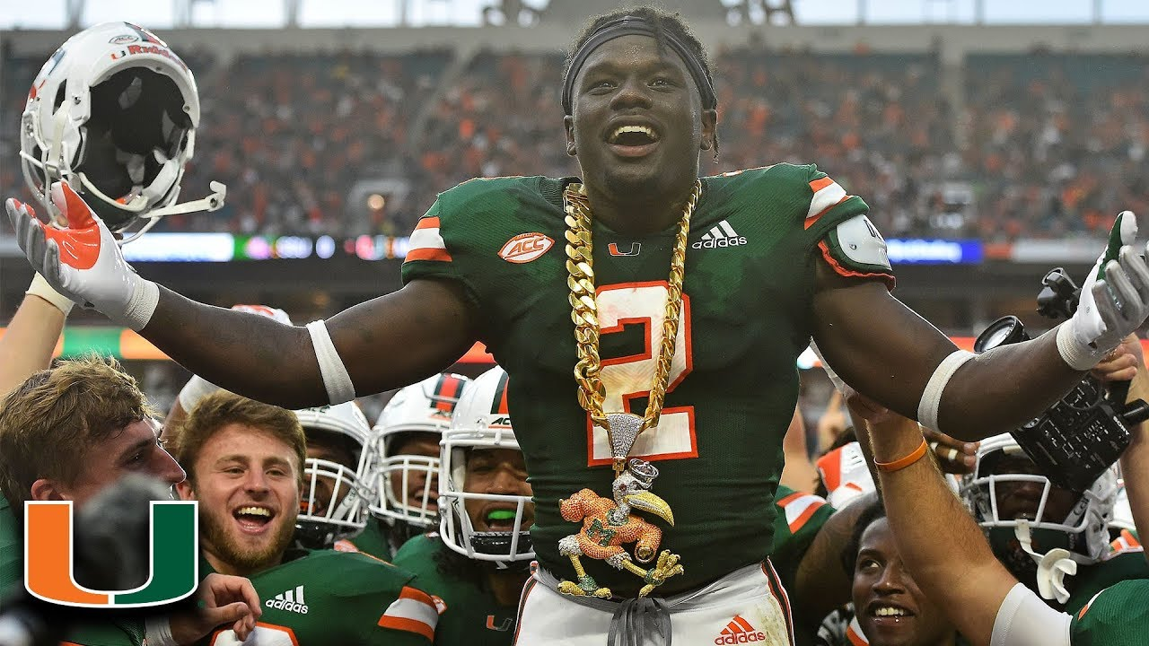 c0870f914 Miami DB Trajan Bandy Earns First Turnover Chain Of 2018 - YouTube