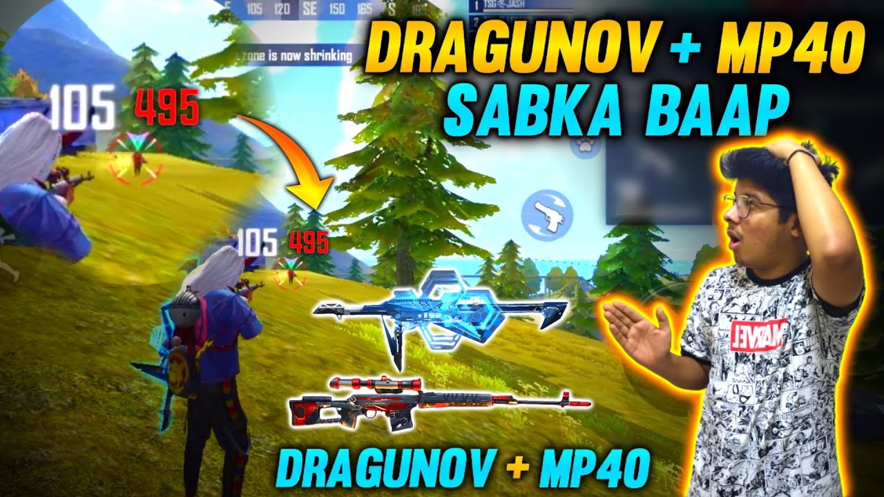 FREEFIRE - DRAGUNOV + LEGENDARY MP40 || SABKA BAAP COMBINATION IN PURGATORY MAP WITH 21+ KILLS #FF