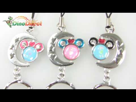 Lovely Crescent Cell Phone MP3 MP4 Metal Strap Charm - dinodirect