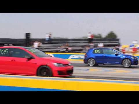 VW Golf R vs VW Golf GTI 2do Jale | Arrancones Pegaso Abril 2018