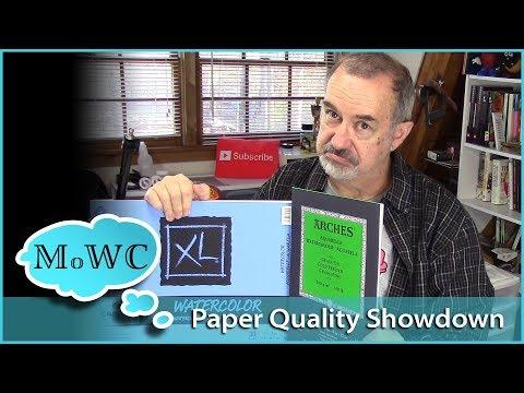 SHOWDOWN! Cheap vs Good Quality Watercolor Paper