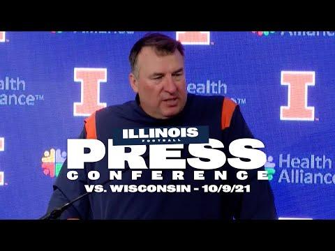 Illini Football   Coach Bielema Press Conference vs. Wisconsin 10/9/21