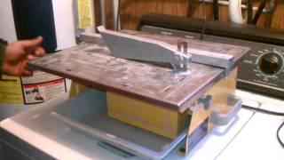 workforce 7 tile wet saw tbd550 youtube