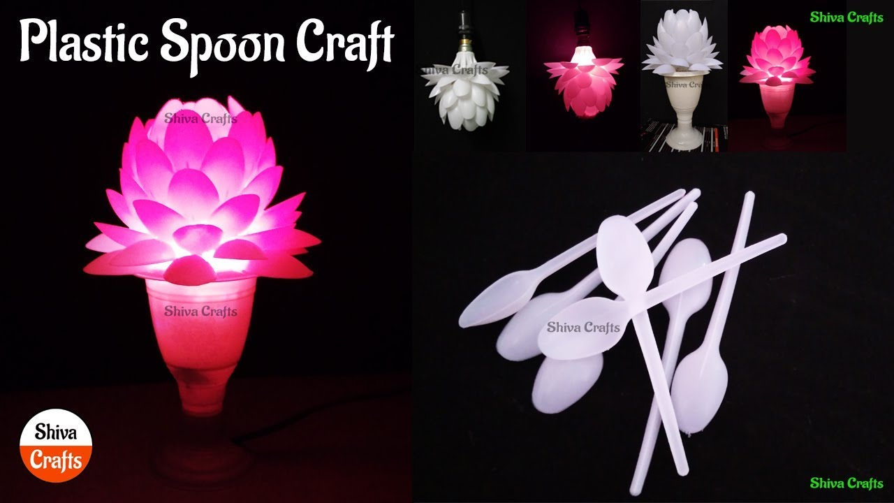 Download Save Lampshade Made Of Plastic Spoon Plastic Spoon Craft