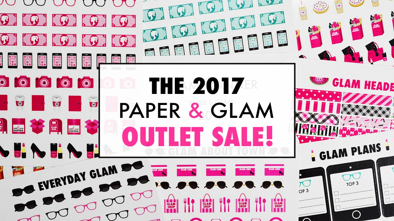 the 2017 paper glam planner sticker outlet sale youtube