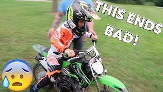 7 YEAR OLD DIRTBIKE CRASH!