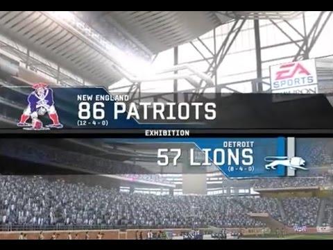 1986 New England Patriots vs. 1957 Detroit Lions