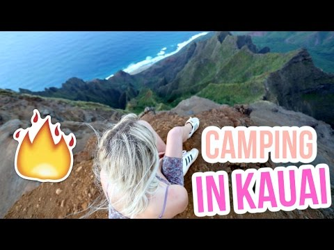 CAMPING ON A CLIFF IN KAUAI!