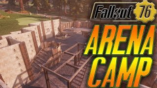 fallout 76 base building   make an arena style camp in fallout 76