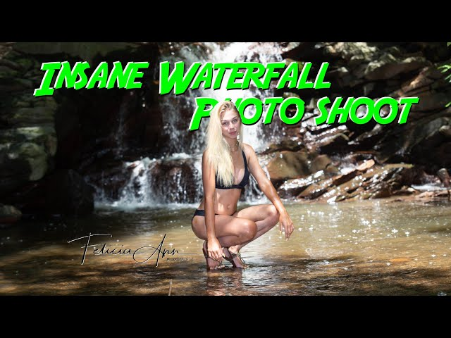 Bikini Waterfall Photo Shoot