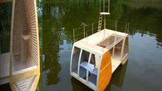 Floating Mini Catamaran Cabin Offers a Serene Wilderness Retreat in The Netherlands