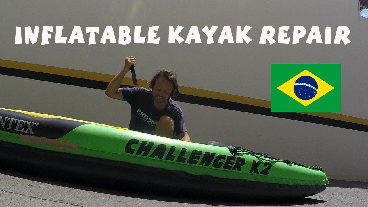 How to repair Intex challenger k2 inflatable kayak
