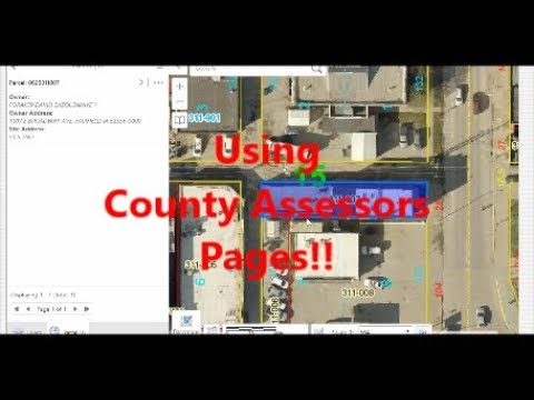Getting Property Information, Using County Assessors Pages!!