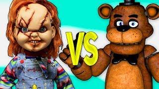 ЧАКИ VS ФРЕДДИ 5 НОЧЕЙ С ФРЕДДИ | СУПЕР РЭП БИТВА | Chucky Doll movie ПРОТИВ 5 Nights At Freddy's