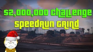 GTA Online $2,000,000 Speedrun Grinding Challenge Stream ( 1:59:23 ) Record