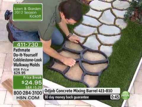 How to make cobblestone look walkway doovi for Pouring your own concrete driveway